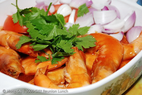 甜酸大虾 - Sweet-sour big prawns
