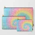 Carry All Pouch   Pastel Tie Dye by Kate + Co. - Set of 3 - Society6