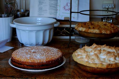 lemon cake + lemon pie