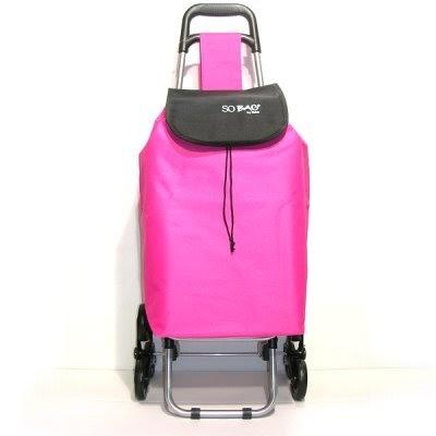 kb8 poussette de march 6 roues sac 30 l tissus rose chariots de courses. Black Bedroom Furniture Sets. Home Design Ideas