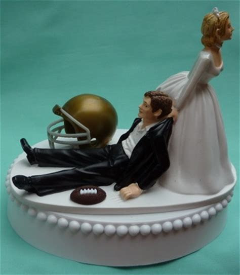 Wedding Cake Topper   University of Notre Dame Fighting