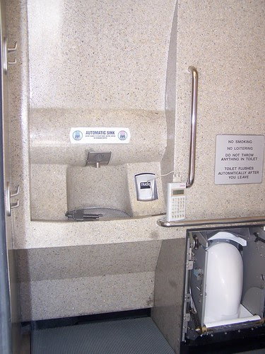 sink and toilet inside the APT