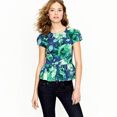 J.Crew Collection Peplum Top