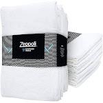 "Zeppoli 12-Pack Flour Sack Towels - 31"" x 31"" Kitchen Towels - Absorbent White Dish Towels - 100% Ring-Spun Cotton Bar Towels"