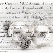 NCMCC Holiday Charity Bazaar