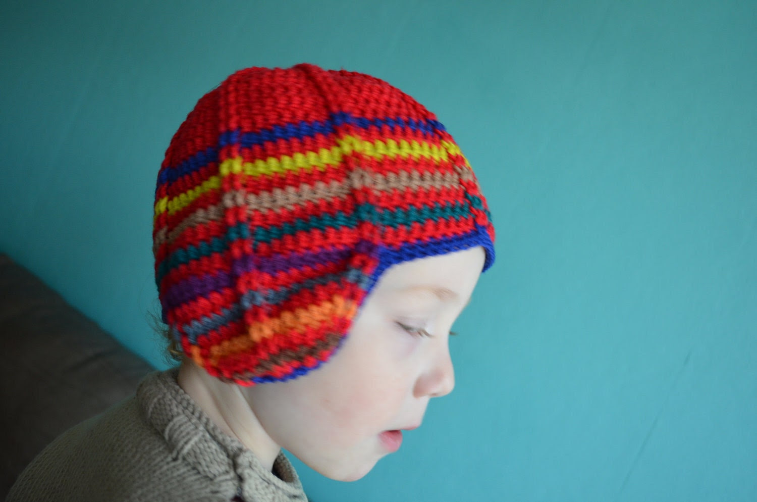 Crochet pattern : retro inspired hat for children in 3 sizes - vicarno