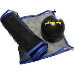 Jumpking Acc-710rcvbn Volleyball Net & Ball for 7 x 10 ft Rectangular Trampoline, Black