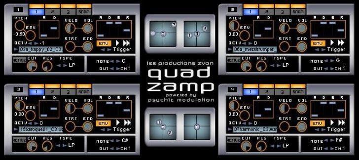 Quad Zamp free VST plugin by Zvon.