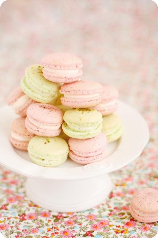Pistachio & Rose Macarons