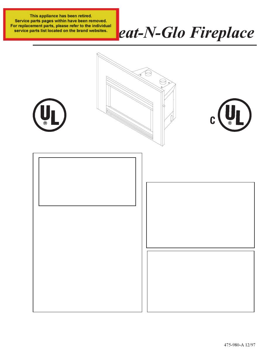 Heat Glo Fireplace Heat Glo Fireplace At Grand User Manual 23