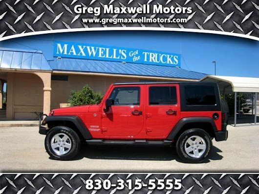 Used 2012 Jeep Wrangler for Sale in Kerrville TX 78028 Greg Maxwell Motors