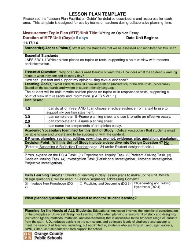 how to write an opinion essay lesson plans