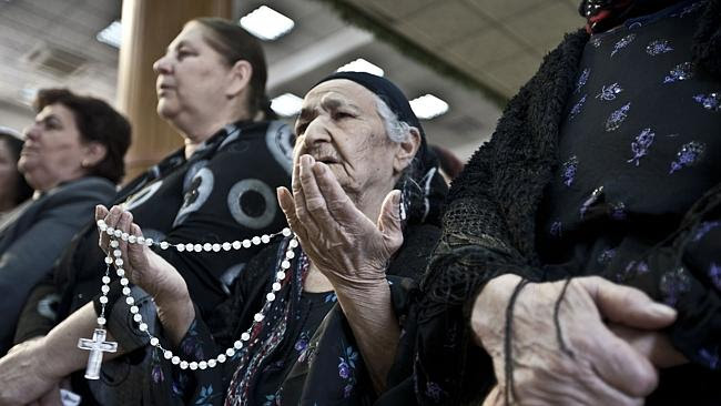 Older women in Ankawa, from where many Christians have fled.