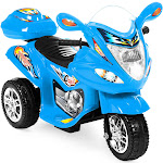 Best Choice Products 6V Kids Battery Powered 3-Wheel Motorcycle Ride-On Toy with LED Lights - Blue