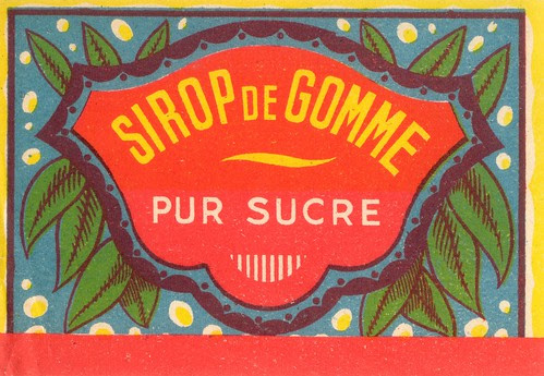 sirop gomme