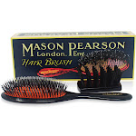 Mason Pearson Handy Bristle & Nylon Hair Brush (BN3) - Dark Ruby