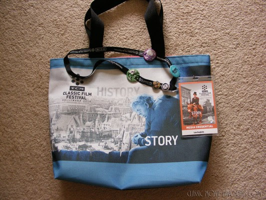 My festival bag and press pass.