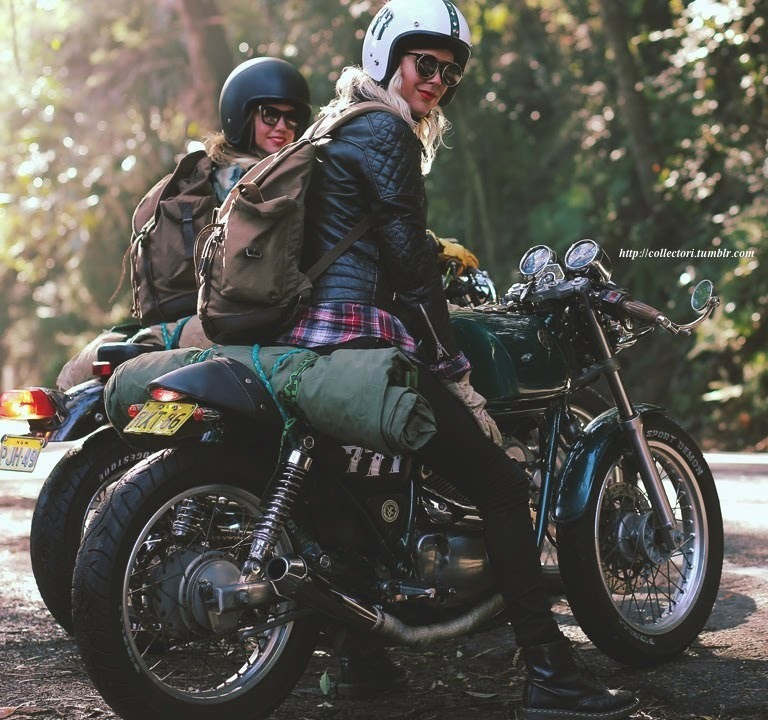 """collectori:  Stories of Bike   Sister (A '94 Yamaha SRV250 Story)""""Both originally from Sweden, Maria and her best friend, Nina, love to ride. They ride to work, to catch up, to head out for coffee on weekends.For the first time, they spontaneously decide to pack swags onto their bikes, head out of Sydney and camp on the first secluded beach they find.Featuring The Throttle Dolls.""""Syster"""" means sister in Swedish.———-video:http://youtu.be/uyupkfBE_IQFor more info on this story visithttp://www.storiesofbike.com"""""""