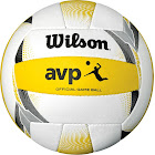 Wilson AVP Official Game Volleyball, White/Yellow