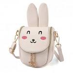 (pattern 1 beige) - Pinky Family Super Cute Girls Purse Bunny Ear Shoulder Bag Messenger Bag Girls Gifts (pattern 1 beige)