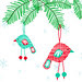 Little hanging birds