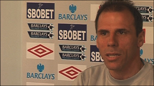 West Ham manager Gianfranco Zola