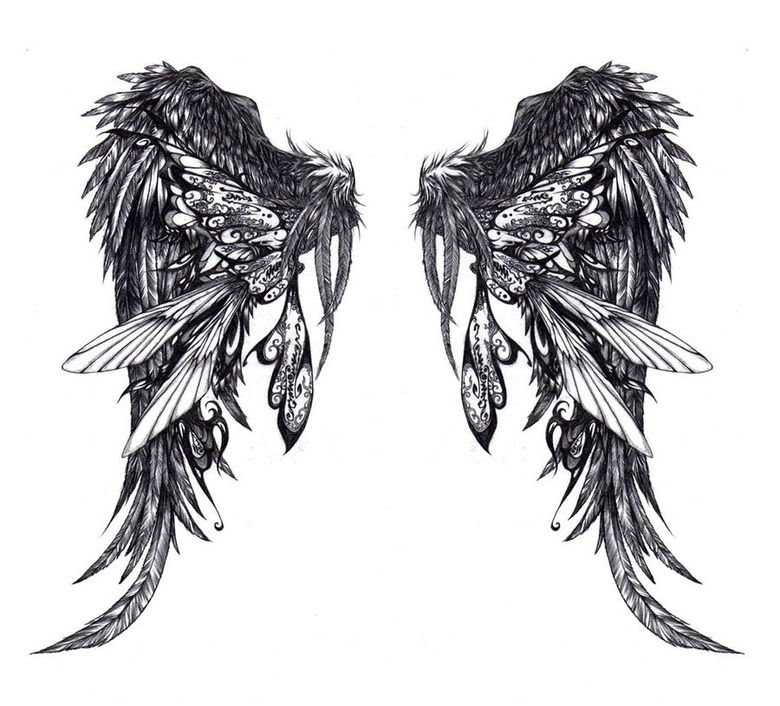 Black Angel Wing Tattoos Cool Tattoos Designs Clip Art Library