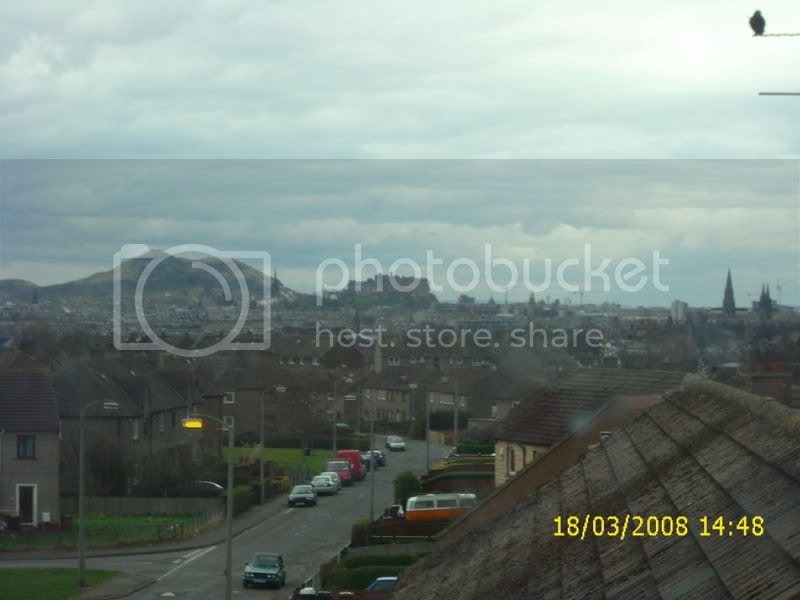 think that's Arthur's seat behind the castle