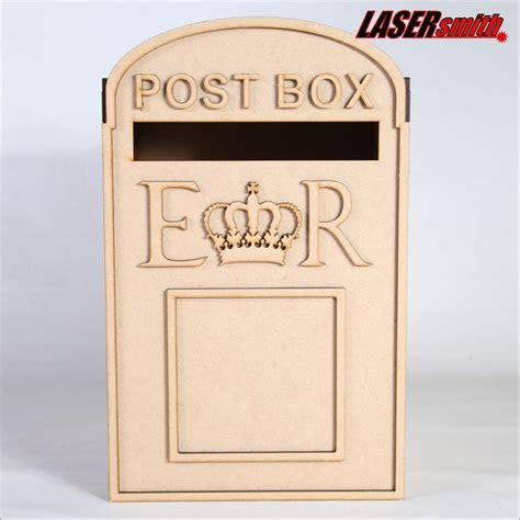 Wedding Post Box, Royal Mail Styled, Flat Pack, Unpainted