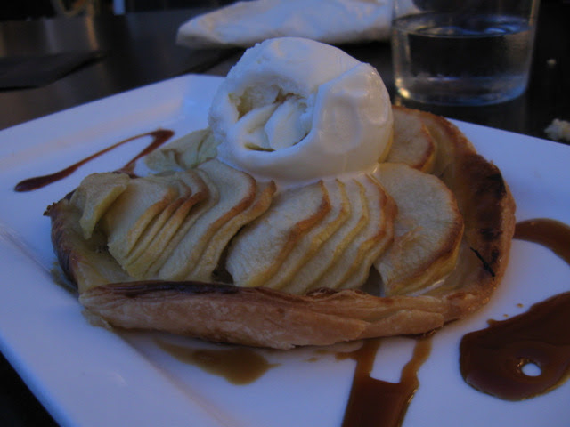 Apple dessert with ice cream!