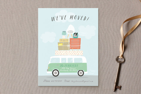 Moving Van Moving Announcements by Itsy Belle Stud... | Minted