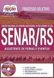 apostila para ASSISTENTE DE FEIRAS E EVENTOS concurso SENAR RS