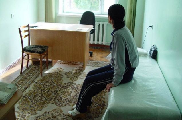 Haunted: One of the women currently being helped by in the IMO's Chisinau anti-trafficking centre