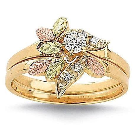 Black Hills Gold® Diamond Wedding Set found on Polyvore