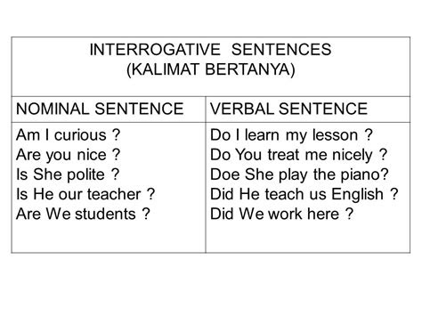 nominal  verbal sentences