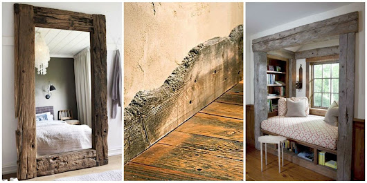 There's a Gorgeous Way to Decorate With Reclaimed Wood That You've Never Thought Of Before