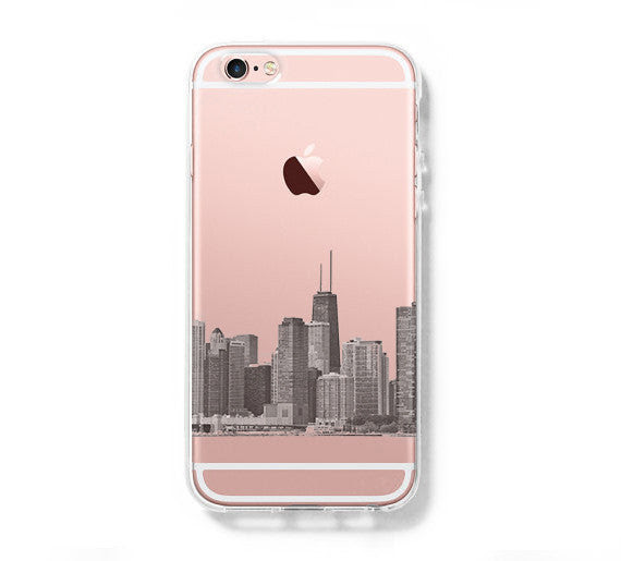 Chicago City Skyline Iphone 6s Clear Case Iphone 6 Cover Iphone 5s 5