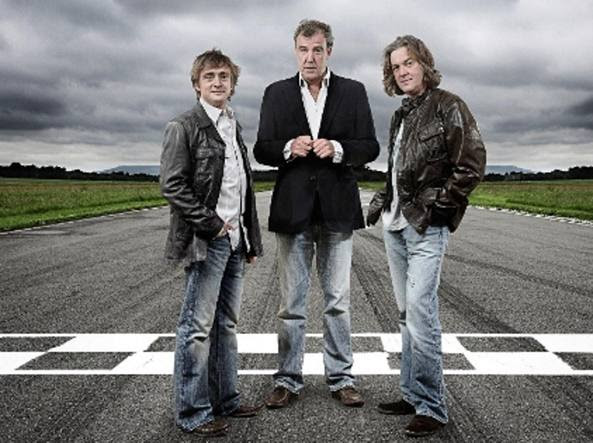 I conduttori storici di Top Gear: Rich Hammond, Jeremy Clarkson e James May