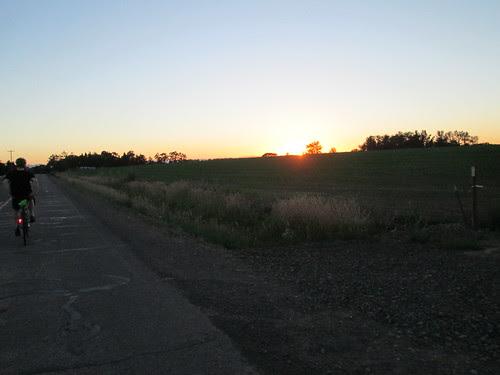 Sun setting like molasses in the sky