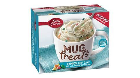 Betty Crocker? Rainbow Chip Cake Mix Mug Treats with