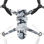 MightySkins PABEBOP2-Gray Camouflage Skin Decal Wrap for Parrot Bebop 2 Quadcopter Drone - Gray Camouflage