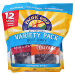Pacific Gold Beef Jerky, Variety Pack, 15 oz, 12-count