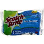 Scotch-Brite Non-Scratch Scrub Sponge, 3 Ct
