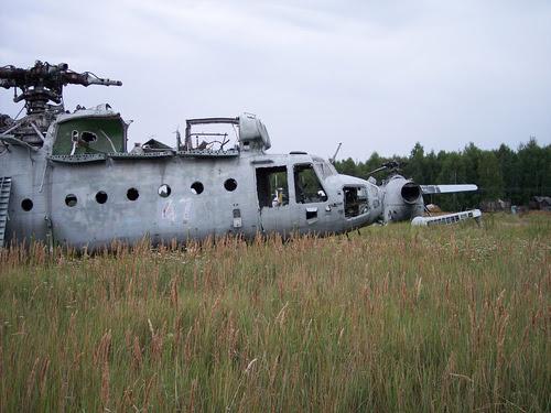 Abandoned Russian army scrap metal 16
