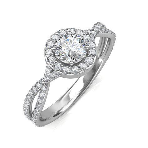 0.95 carat 18K White Gold   Zara Engagement Ring
