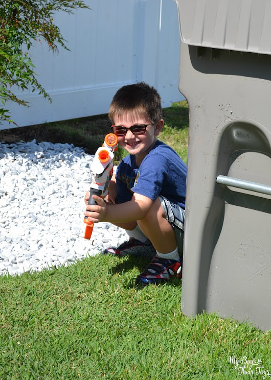 Create the Ultimate Summer Adventure with a Backyard Battlefield! #TRUPowerUpFun - My Boys and Their Toys