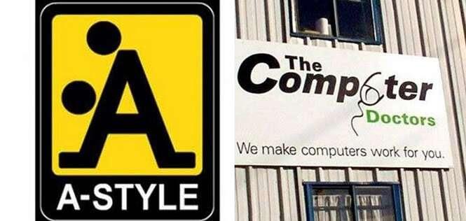 Logos que parecem anunciar outras coisas bem diferentes das que foram planejadas