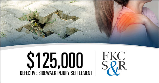 $125,000 settlement for woman injured in trip and fall on defective sidewalk