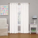 """42""""x63"""" Kendall Blackout Thermaback Curtain Panel White - Eclipse My Scene"""