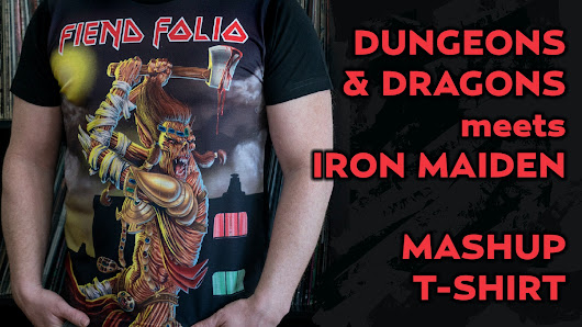 Dungeons & Dragons / Iron Maiden Mashup T-Shirt